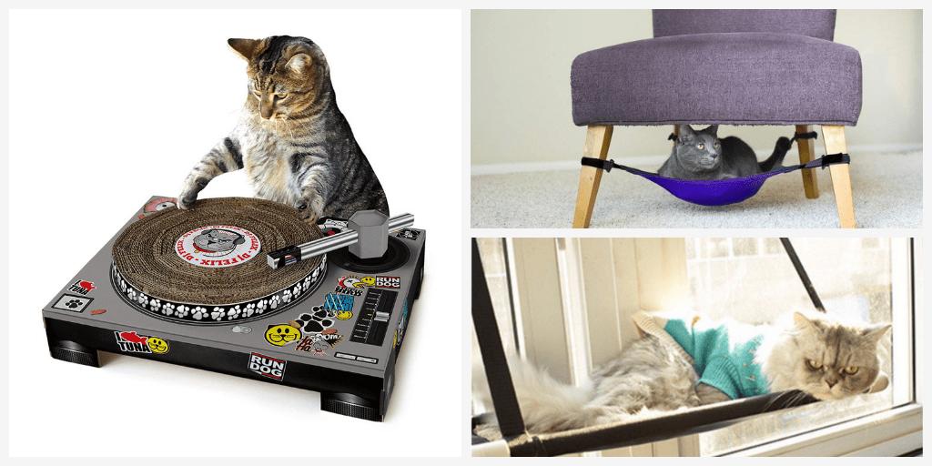 Кот скажет вам «спасибо»: кошачий домик, гамак, «скафандр» и отдельный вход
