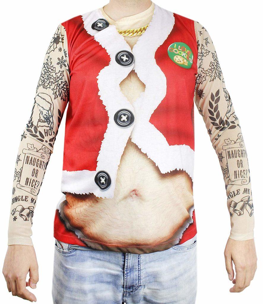футболка татуированный санта