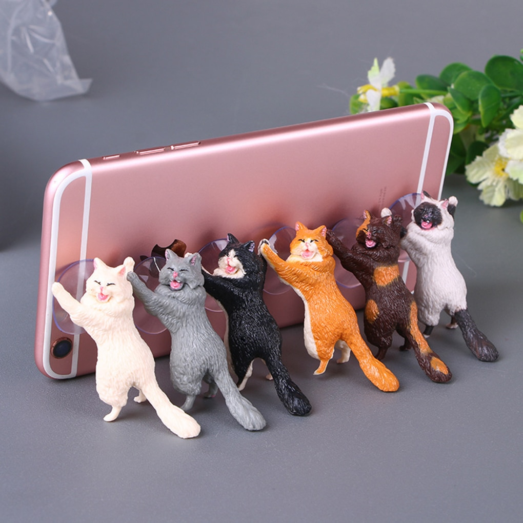 Подставка для смартфона с кошками