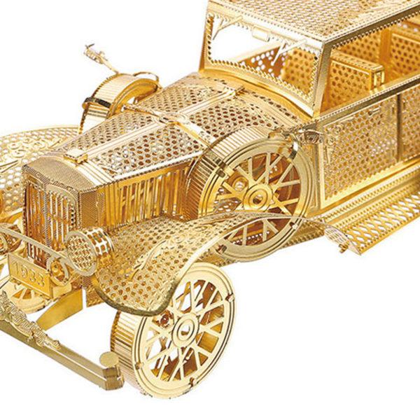 Ретро автомобиль сборная модель конструктор для взрослых из металла. 3d пазлы.