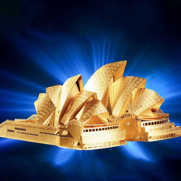 Театр оперы в Сиднее 3d пазл из металла. Конструктор для взрослых.
