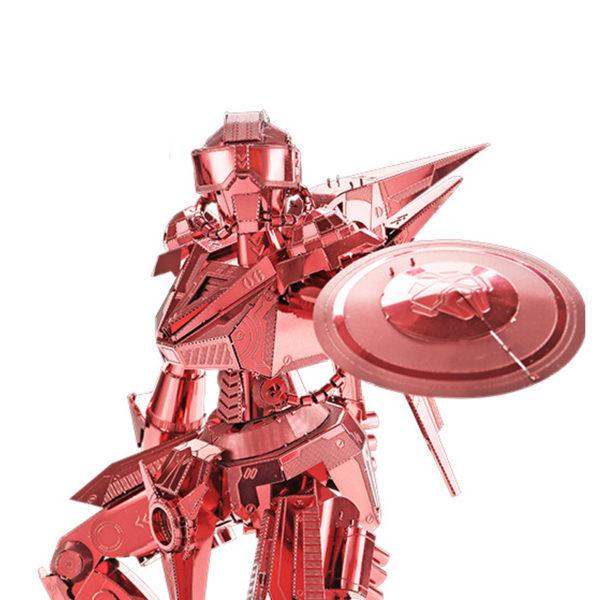 Железный человек с щитом 3d пазл из металла