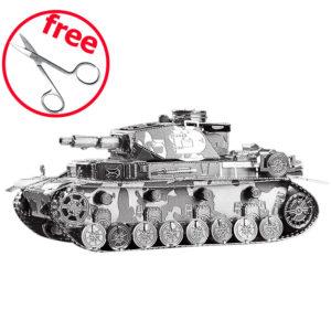 Танк Т4 3d пазл из металла. Конструктор для взрослых.