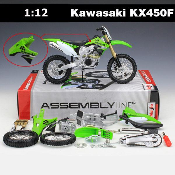 Maisto 1:12 Kawasaki мотоцикл. Конструктор из металла. Модель копия.
