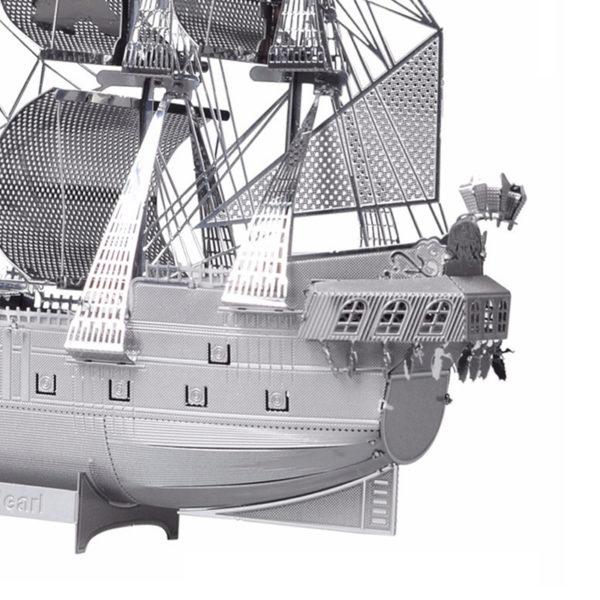 """Корабль """"Черная жемчужина"""" 3d пазл из металла. Конструктор для взрослых."""