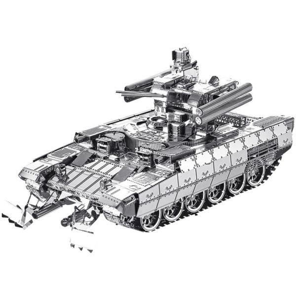Танк BMPT 3d пазл из металла. Конструктор для взрослых.