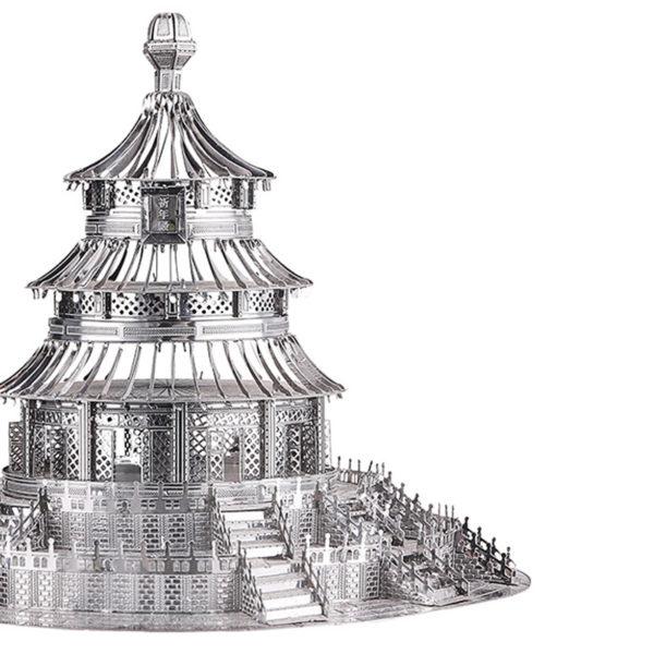 Райский храм 3d пазл из металла