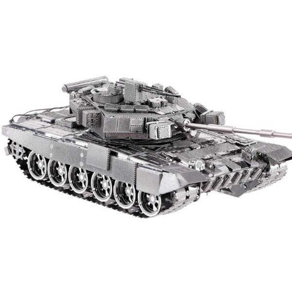 Танк T-90A 3d пазл из металла. Конструктор для взрослых.