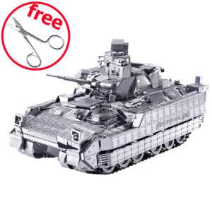 3d пазл из металла. Конструктор для взрослых. Танк M2A3 Bradley