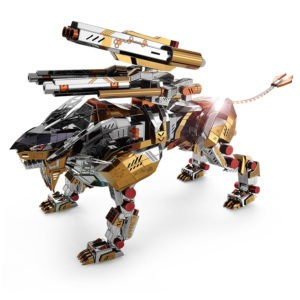 Робот Лев 3D пазлы из металла.  DIY. Конструктор для взрослых.