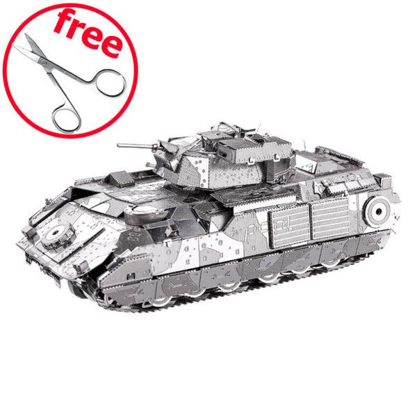 Танк M2A2 Bradley 3d пазл из металла. Конструктор для взрослых.