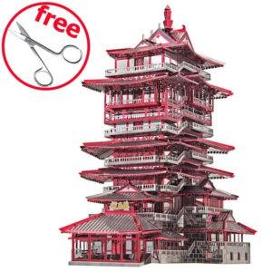 Башня Yuewang 3d пазл из металла. Конструктор для взрослых.