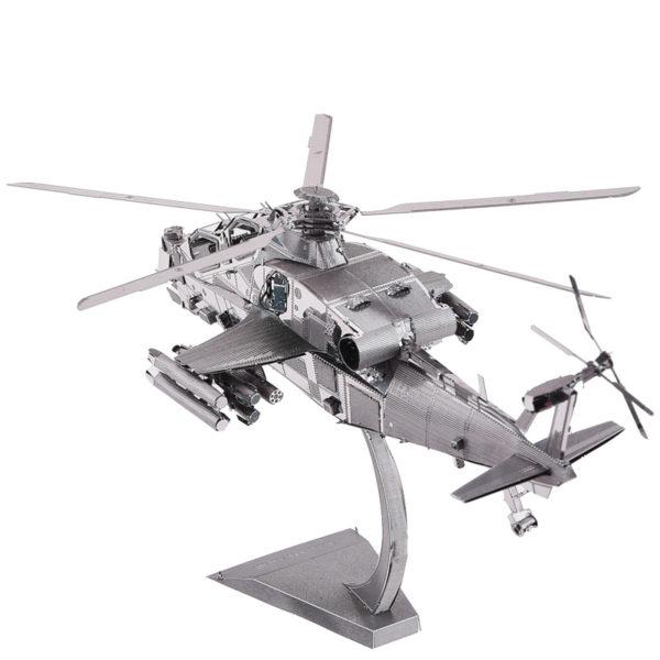 Геликоптер Wuzhi 10 cборная модель конструктор для взрослых из металла. 3d пазлы.