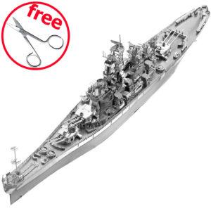 Крейсер Миссури 3д пазлы из металла. DIY. Конструктор для взрослых.