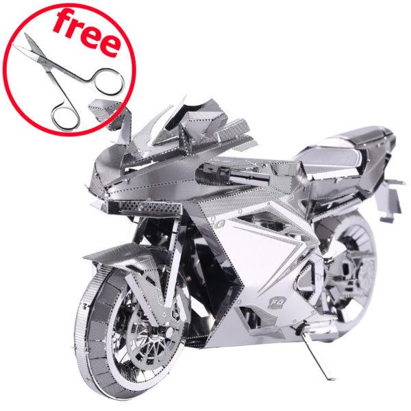 Мотоцикл-2 3d пазл из металла. Конструктор для взрослых.