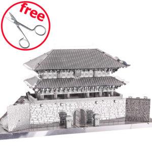 """3d пазл из металла дворец """"Южные Ворота"""" в Корее. Точная копия из стали."""