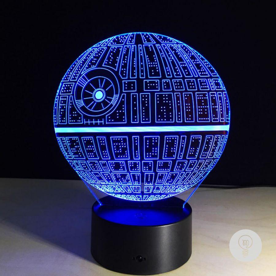 3д светильник, Звезда Смерти Звездные Войны