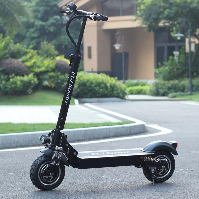 Складной Двухколесный Электрический Скутер для бездорожья