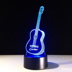 3д светильник, голограмма гитара