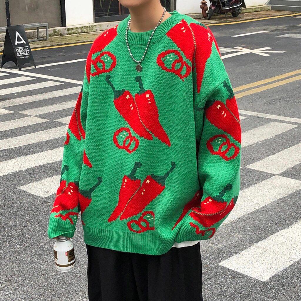 уродливый новогодний свитер