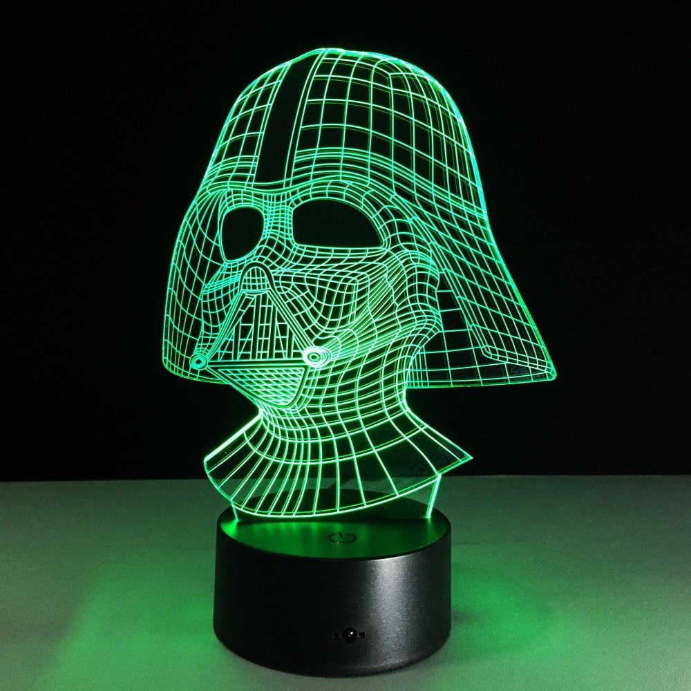 3д светильник, голограмма Дарт Вейдер