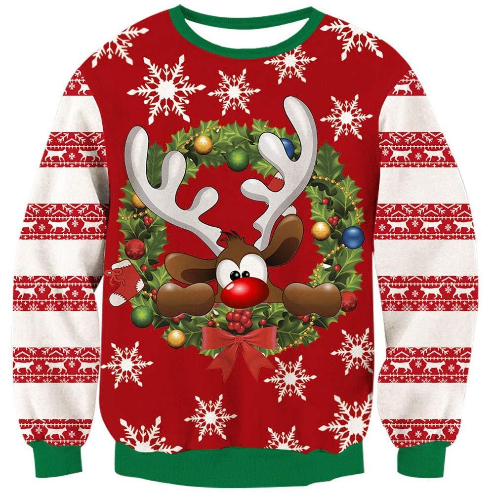 свитер с оленем