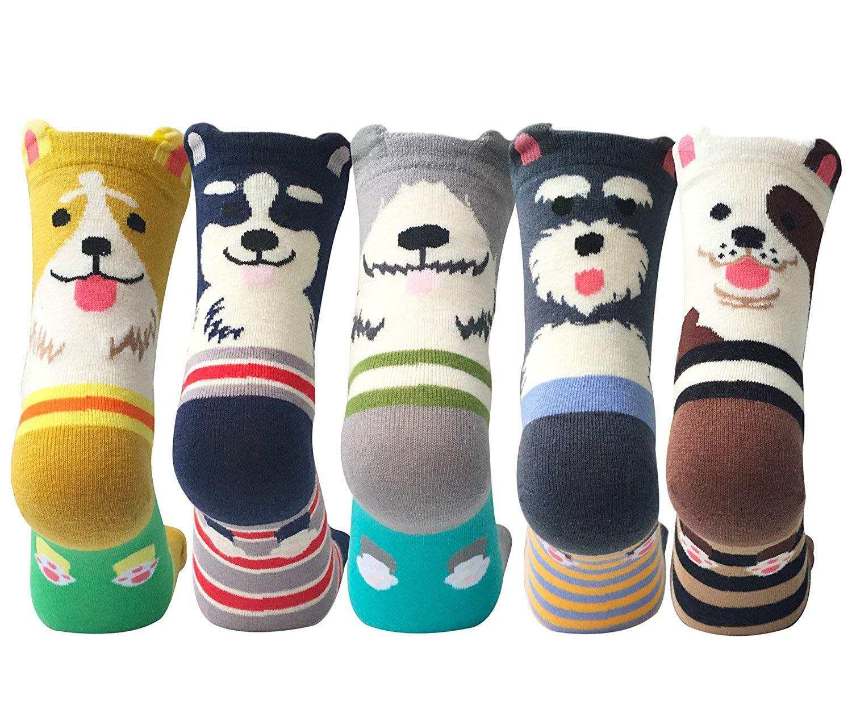 Необычные женские носки с собаками