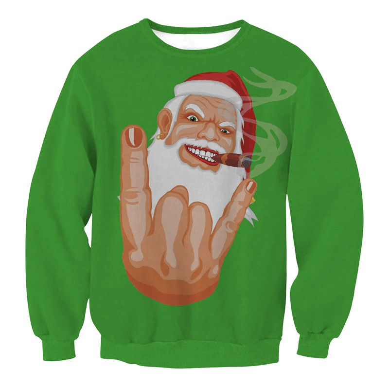 новогодний свитер с плохим сантой