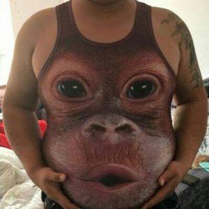 футболка с обезьяной
