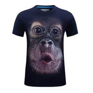 футболка с шимпанзе