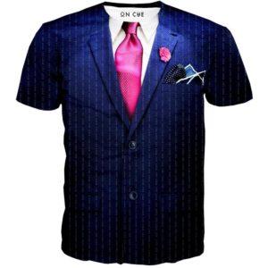 футболка с галстуком
