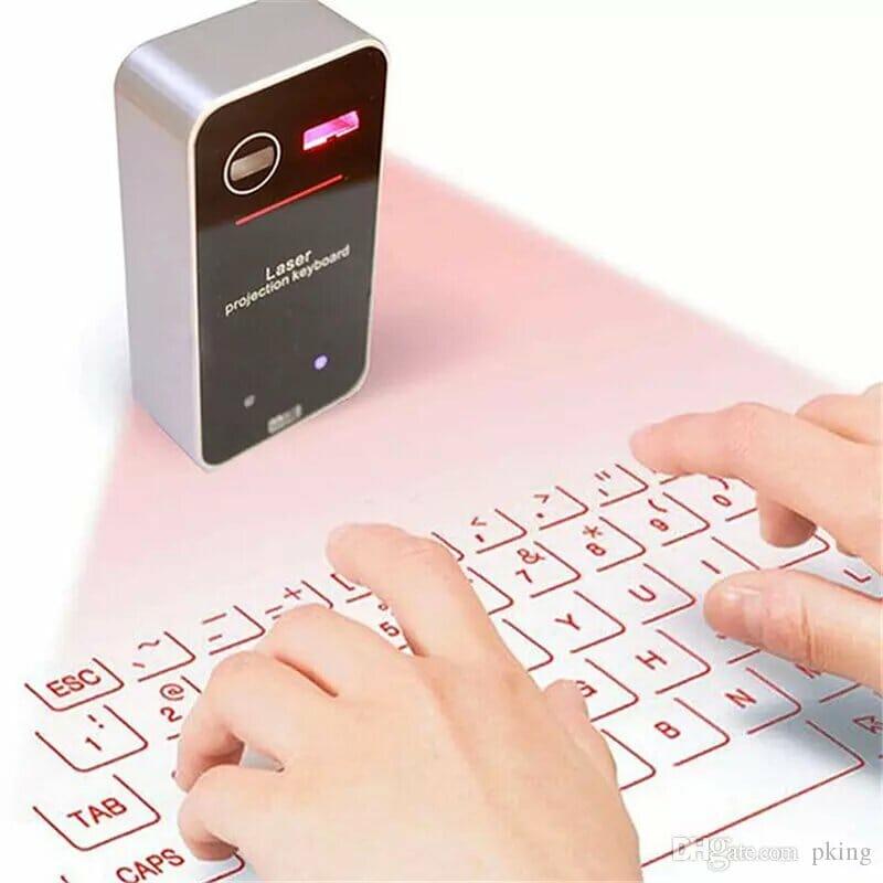 Оригинальные подарки для коллег в офисе Клавиатура Виртуальная Bluetooth Проекционная