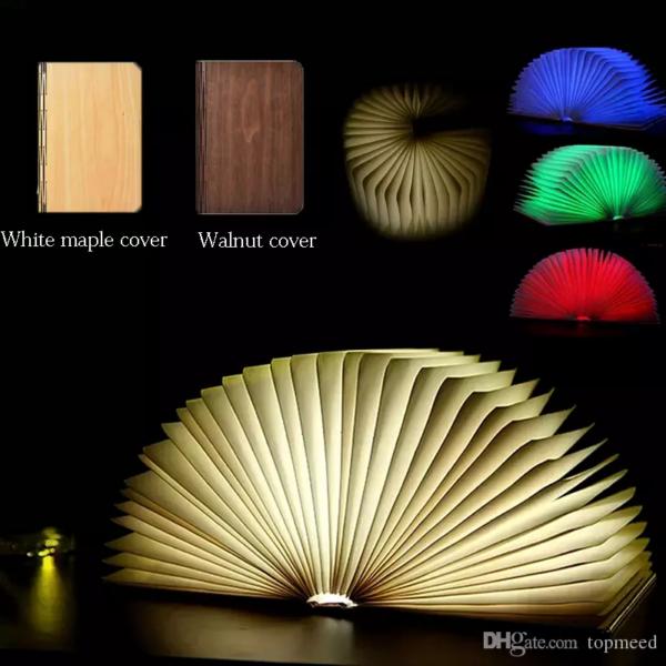 Лампа LED Светильник Ночник Книга со Светящимися страницами