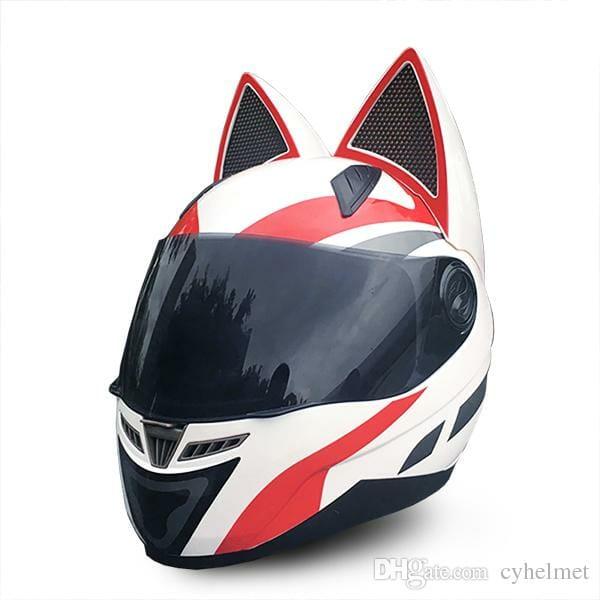 Мотоциклетный Шлем с Кошачьими Ушами