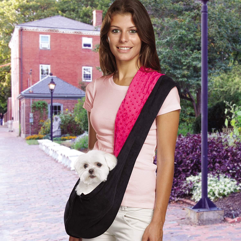Двусторонняя сумка на ремне для собаки