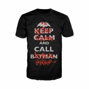 Футболка Сохраняй Спокойствие и Позови Бэтмена