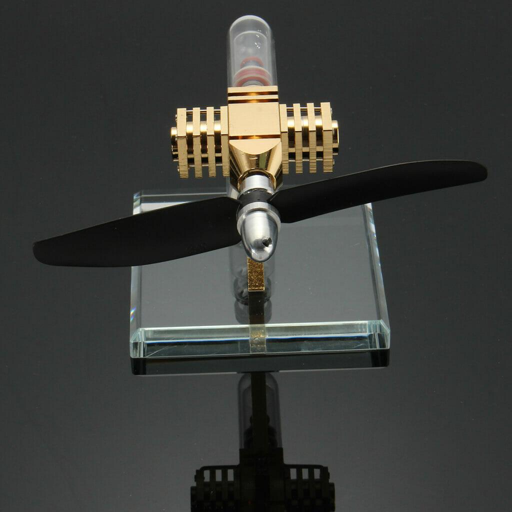 Паровой авиадвигатель действующая модель Стирлинг