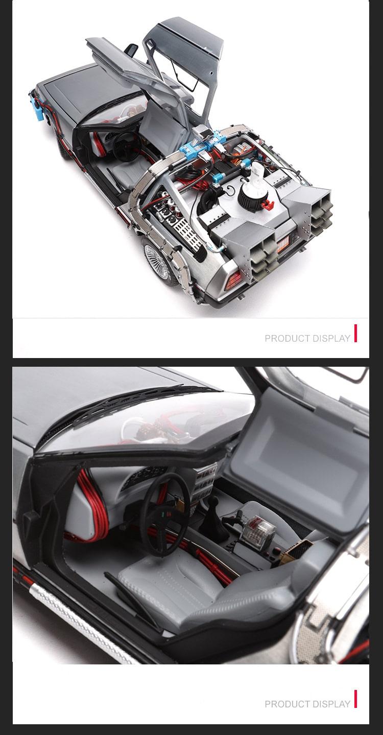 Коллекционная модель Левитирующая Машина Времени из Назад в будущее 2
