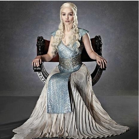 Дейнерис Таргариен - дочь «Безумного короля» из Игры Престолов и королевыРейлы. Костюм косплей. Доставка бесплатно.