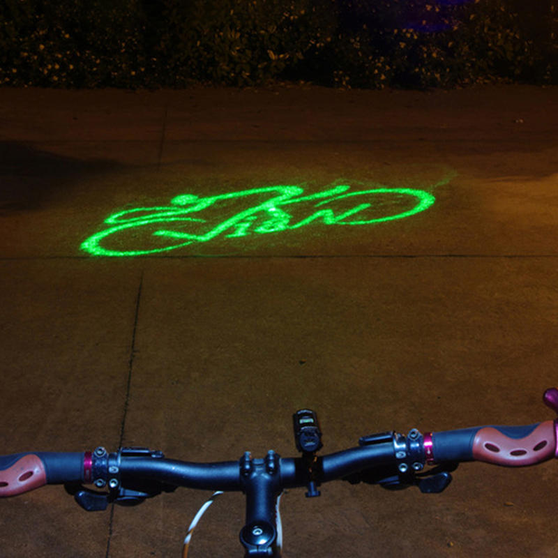лазерный велосипедный сигнал безопасности в ночное время для велосипеда