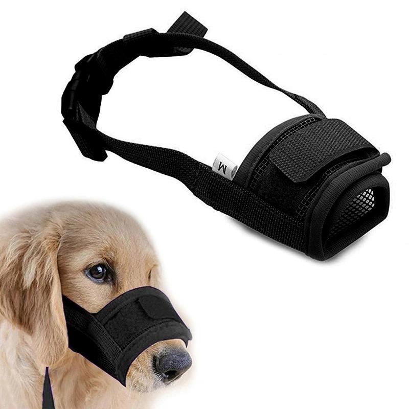 мягкий регулируемый намордник для маленьких собак