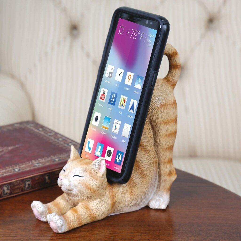 держатель для телефона  с кошкой