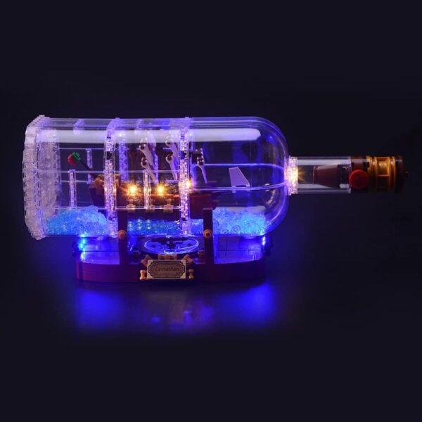 корабль в бутылке лего