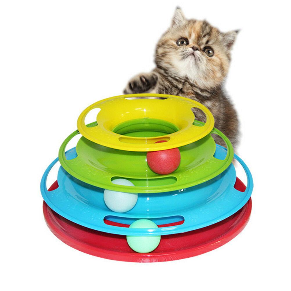 Интеллектуальный Диск с шариками для кошки Crazy Ball
