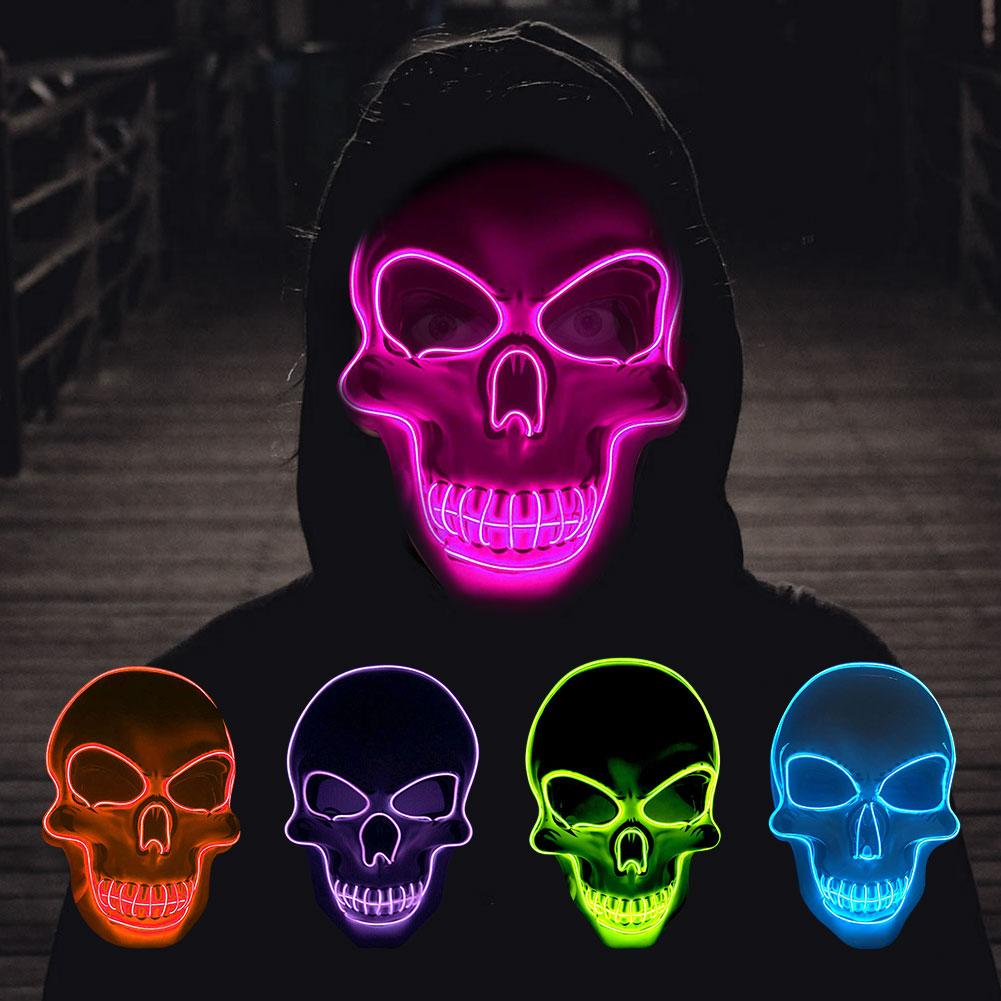 маска светящаяся череп