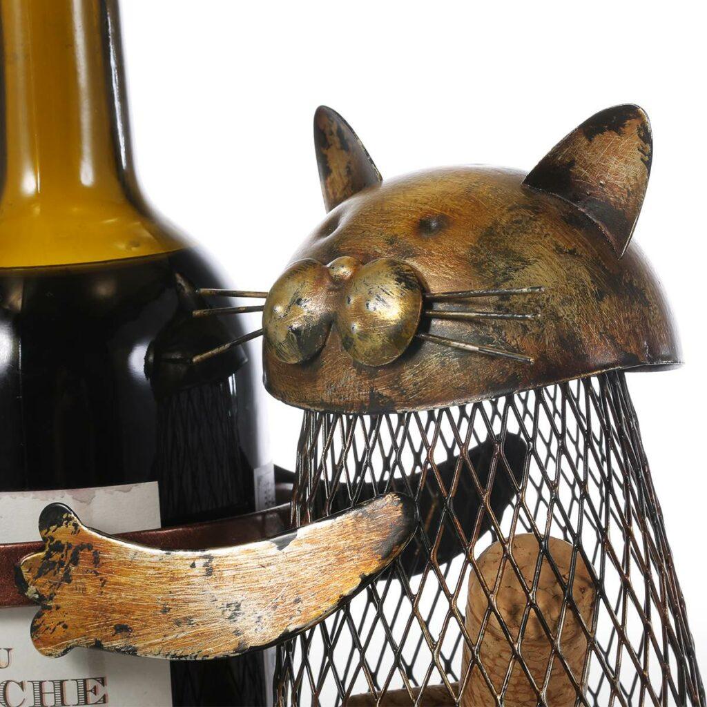подставка для вина с котом