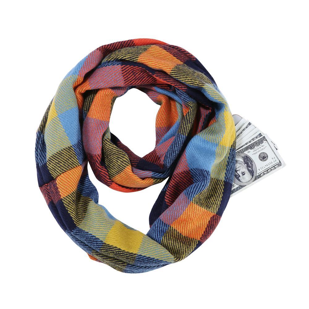 шарф с потайным карманом для денег и документов