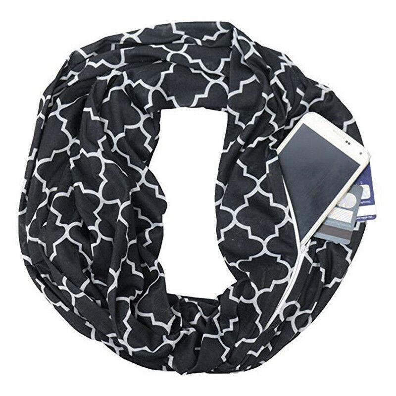 шарф с потайным карманом