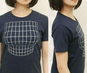 футболка увеличивает грудь