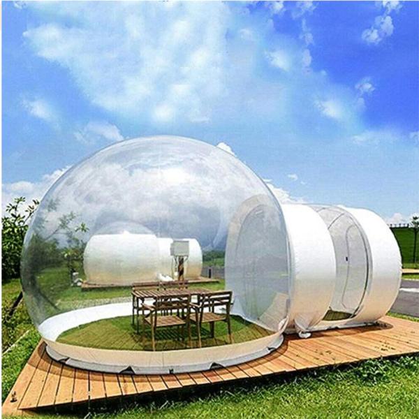 Надувной прозрачный дом кемпинг
